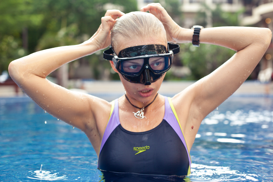Freedivers use less equipment