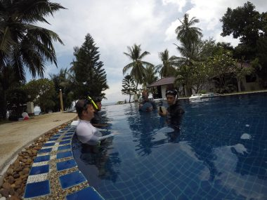 Presentation in the pool